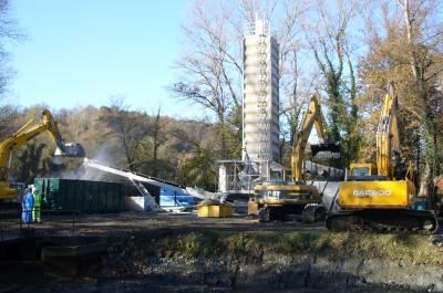 Unité de traitement de boues par chaulage (chantier Lacq, 64)
