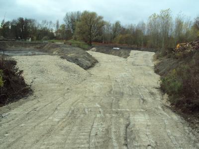 Réalisation de bassins et pistes d'accès